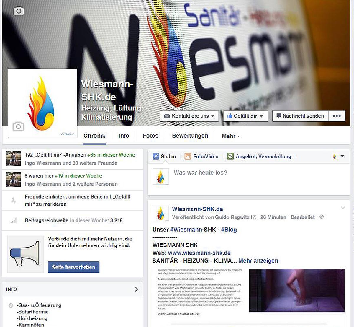 Facebook Wiesmann-SHK