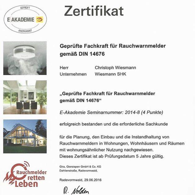 Gira-Zertifikat-Rauchmelder