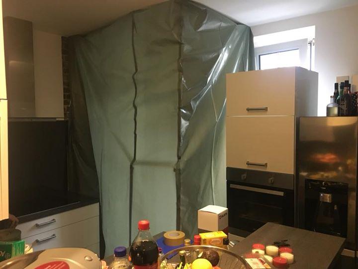 Sauberes Arbeiten in einer bewohnten Wohnung?  …