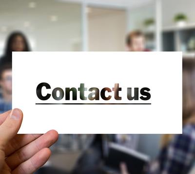 Kontaktieren Sie uns!